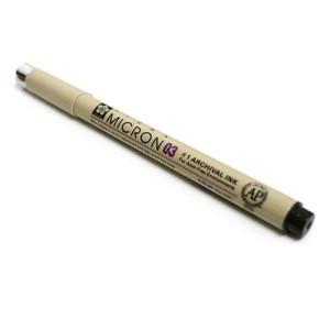 Rotulador negro Pigma Micron Sakura 03, 0.35 mm.