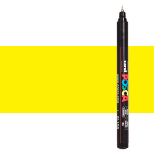Rotulador Posca Amarillo (N. 2) PC1MR, punta extra fina (0.7 mm.)