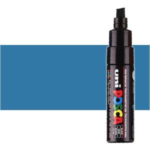 Totenart. Rotulador Posca Azul metálico (350) PC8K, punta biselada (8 mm.)