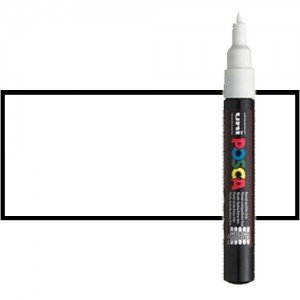 Totenart. Rotulador Posca Blanco (1400) PC1M, punta redonda (0.7 mm.)
