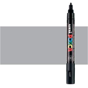 Totenart. Rotulador Posca Gris (1500) PC5M, punta redonda (1.8-2.5 mm.)