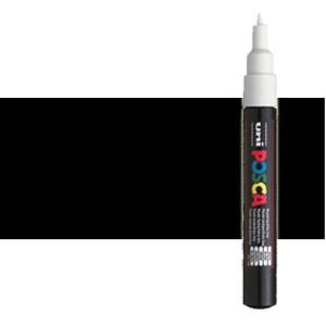 totenart-Rotulador Posca negro PC1M, punta redonda 0.7 mm.