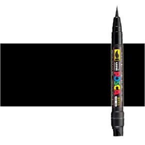 Totenart. Rotulador Posca Negro (200) PCF35, punta pincel