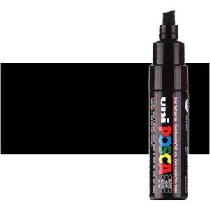 Totenart. Rotulador Posca Negro (200) PC8K, punta biselada (8 mm.)