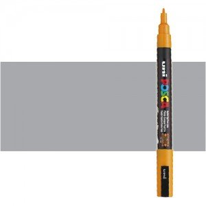 Totenart. Rotulador Posca Plata (1200) PC3M, punta redonda (0.9-1.3 mm.)