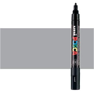 Totenart. Rotulador Posca Plata (1200) PC5M, punta redonda (1.8-2.5 mm.)