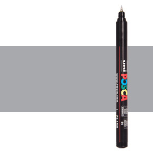 Rotulador Posca Plata (N. 26) PC1MR, punta extra fina (0.7 mm.)
