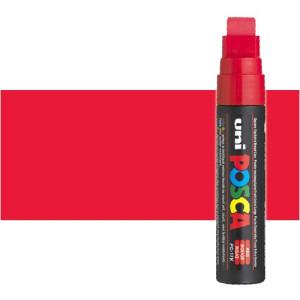 Totenart. Rotulador Posca Rojo (400) PC17K, punta biselada (15 mm.)