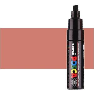 Totenart. Rotulador Posca Rojo metálico (450) PC8K, punta biselada (8 mm.)