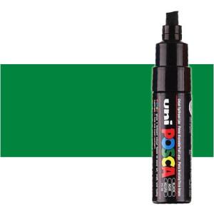 Totenart. Rotulador Posca Verde (500) PC8K, punta biselada (8 mm.)