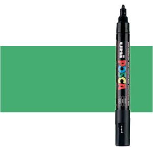 Totenart. Rotulador Posca Verde metálico (550) PC5M, punta redonda (1.8-2.5 mm.)