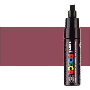 Totenart. Rotulador Posca Rojo vino (900) PC8K, punta biselada (8 mm.)
