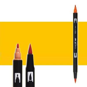 totenart-rotulador-tombow-color-025-naranja-claro-con-pincel-y-doble-punta