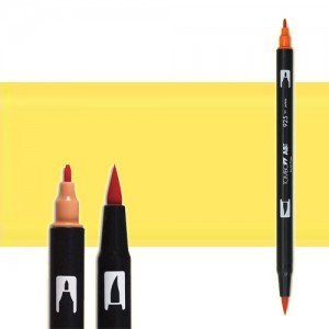 totenart-rotulador-tombow-color-062-amarillo-palo-con-pincel-y-doble-punta