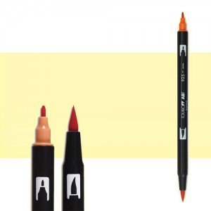 totenart-rotulador-tombow-color-090-amarillo-baby-con-pincel-y-doble-punta