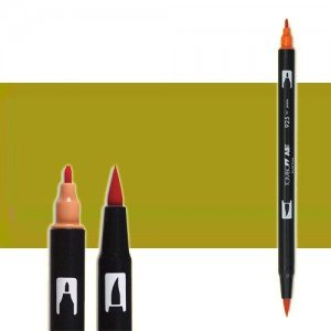 totenart-rotulador-tombow-color-098-avocado-con-pincel-y-doble-punta