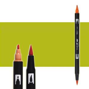 totenart-rotulador-tombow-color-126-verde-oliva-claro-con-pincel-y-doble-punta