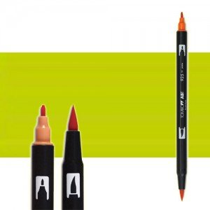 totenart-rotulador-tombow-color-133-chartreuse-con-pincel-y-doble-punta