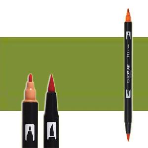 totenart-rotulador-tombow-color-158-verde-oliva-oscuro-con-pincel-y-doble-punta