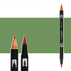 totenart-rotulador-tombow-color-192-aspargus-con-pincel-y-doble-punta