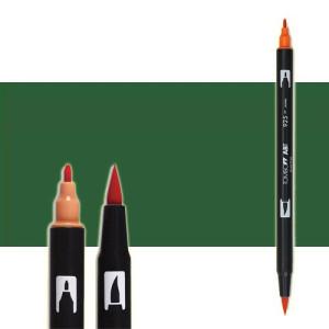 totenart-rotulador-tombow-color-249-verde-hunter-con-pincel-y-doble-punta