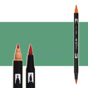 totenart-rotulador-tombow-color-312-verde-holly-con-pincel-y-doble-punta
