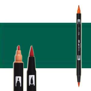 totenart-rotulador-tombow-color-346-verde-mar-con-pincel-y-doble-punta
