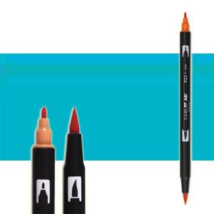 totenart-rotulador-tombow-color-452-azul-proceso-con-pincel-y-doble-punta