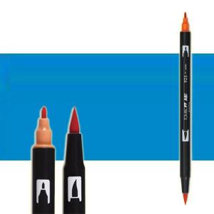 totenart-rotulador-tombow-color-493-azul-reflex-con-pincel-y-doble-punta