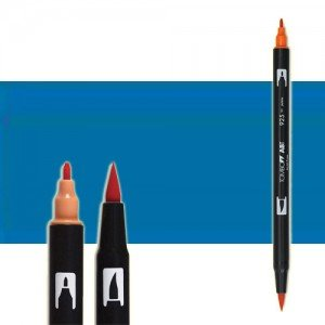 totenart-rotulador-tombow-color-528-azul-navy-con-pincel-y-doble-punta