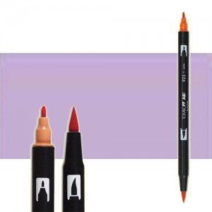 totenart-rotulador-tombow-color-623-purpura-sage-con-pincel-y-doble-punta