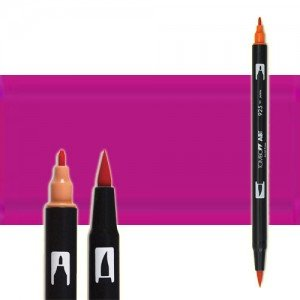 totenart-rotulador-tombow-color-665-purpura-sage-2-con-pincel-y-doble-punta