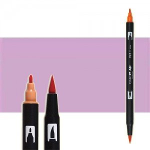 totenart-rotulador-tombow-color-673-orquidea-con-pincel-y-doble-punta