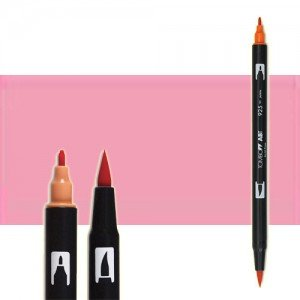 totenart-rotulador-tombow-color-723-rosa-pink-2-con-pincel-y-doble-punta