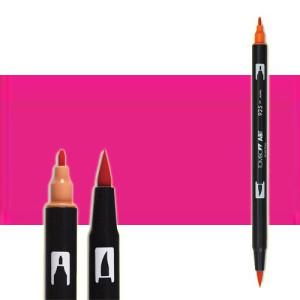 totenart-rotulador-tombow-color-725-rojo-rodhamina-con-pincel-y-doble-punta