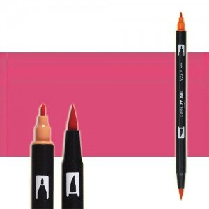 totenart-rotulador-tombow-color-743-rosa-ardiente-con-pincel-y-doble-punta
