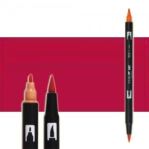 totenart-rotulador-tombow-color-815-cereza-con-pincel-y-doble-punta
