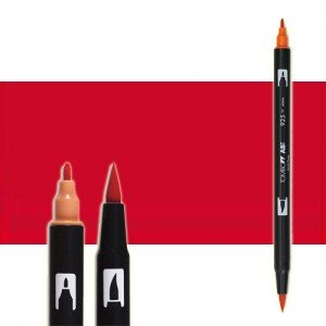 totenart-rotulador-tombow-color-835-melocoton-con-pincel-y-doble-punta