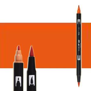 totenart-rotulador-tombow-color-905-rojo-madera-con-pincel-y-doble-punta