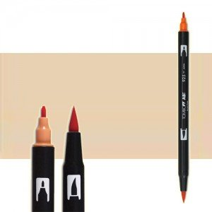 totenart-rotulador-tombow-color-942-tan-con-pincel-y-doble-punta