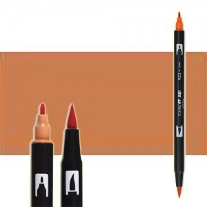totenart-rotulador-tombow-color-977-marron-sadle-con-pincel-y-doble-punta