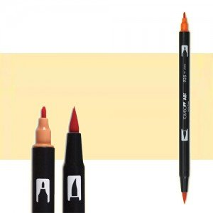 totenart-rotulador-tombow-color-990-arena-claro-con-pincel-y-doble-punta