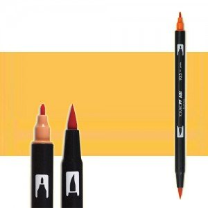 totenart-rotulador-tombow-color-991-ocre-claro-con-pincel-y-doble-punta