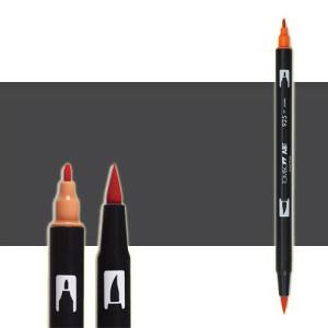 totenart-rotulador-tombow-color-n25-negro-humo-con-pincel-y-doble-punta