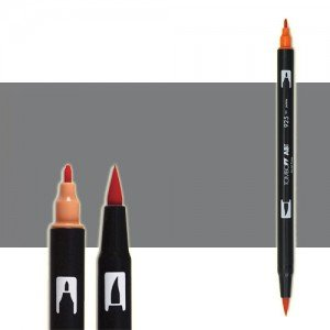 totenart-rotulador-tombow-color-n45-gris-frio-10-con-pincel-y-doble-punta