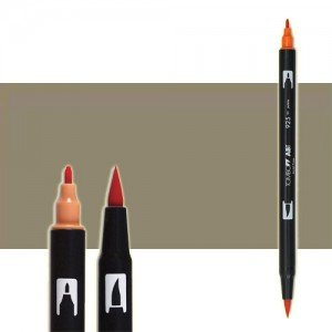 totenart-rotulador-tombow-color-n57-gris-calido-5-con-pincel-y-doble-punta