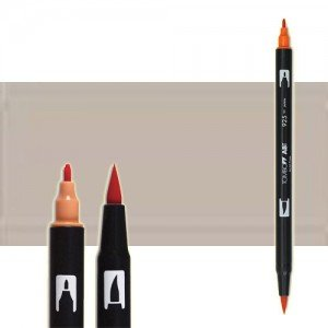 totenart-rotulador-tombow-color-n79-gris-calido-2-con-pincel-y-doble-punta