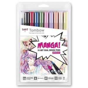 totenart-rotulador-dual-brush-tombow-set-de-10-colores-manga-shojo