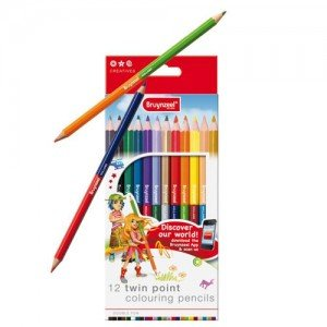 totenart-Estuche 12 lapices color doble punta Bruynzeel