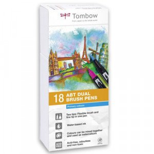 Rotulador Tombow, Set de 12 Colores Primarios